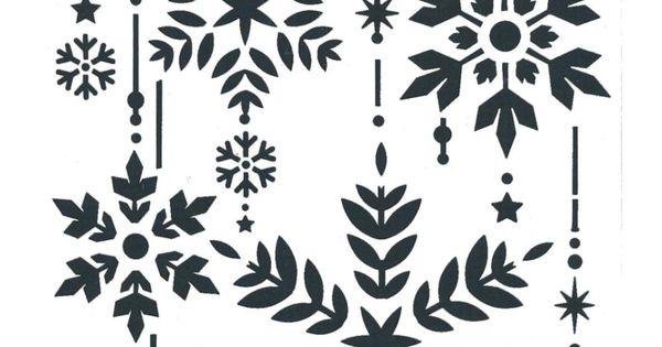 Schablone Heike Schafer Create Yr Fashion Textil Stencil Weihnachten Kristalle Schablonen Weihnachten Weihnachtsschablonen Fensterbilder Weihnachten