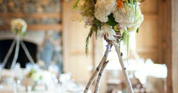 Tischdekoration Hochzeit Diy Tischdeko Birkenzweige Blumen