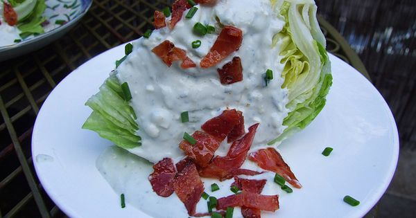 Wedge salad, Candied bacon and Blue cheese dressing on Pinterest