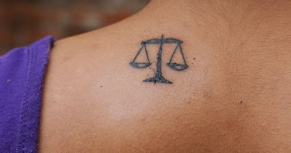 Scales of justice tattoo law pinterest black heart for New tattoo laws