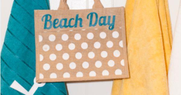 Beach Day Bag Make It Now In Cricut Design Space Make