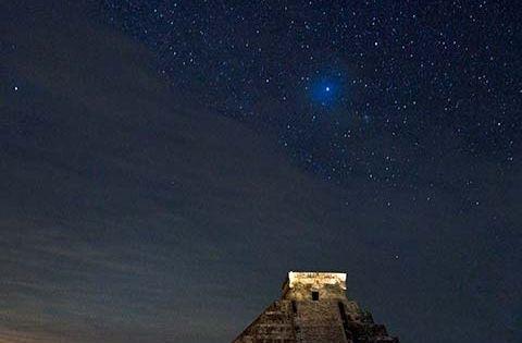 Chichen Itza at Night - Mexico -- by Alex Korolkovas