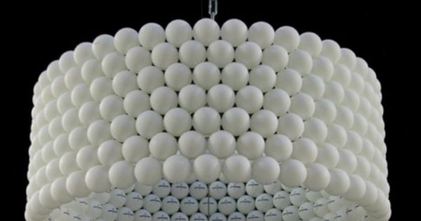 Ping pong ball lamp shade