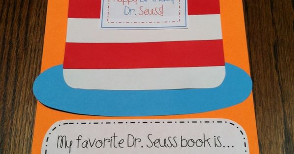 Dr. Seuss Birthday Craft