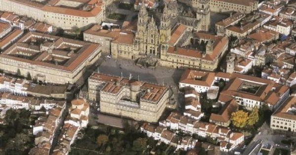 Vista Aérea De Santiago De Compostela Santiago De Compostela Camino De Santiago Santiago