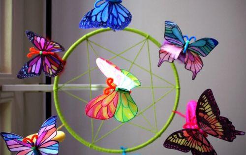 Two Milk Jug Decorative Window Crafts Alpha Mom Butterfly Crafts Window Crafts Bottle Crafts