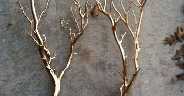 Spray paint tree branches gold. Makes for amazing centerpieces. DIY wedding planner