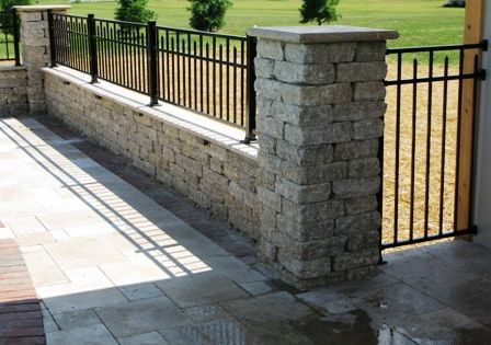 Half Wall Pool Fence Put More Of A Sitting Space And Add