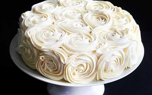 Rose Cake Tutorial- might have to try this for my birthday cake