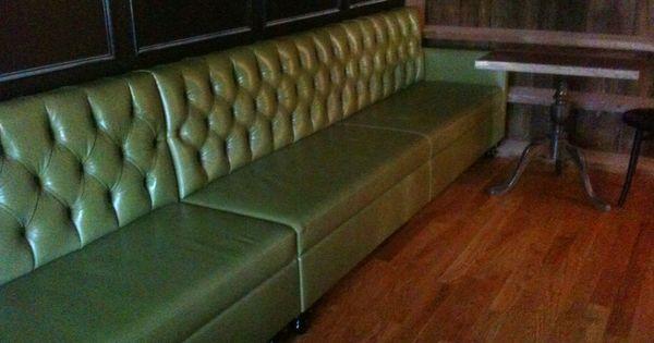 The Suburban Custom Leather Banquette Restaurant Design Pinterest Banquettes Restaurant