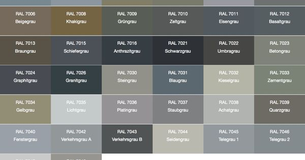 RAL 7005 - Google Search - Color Charts | Pinterest ...