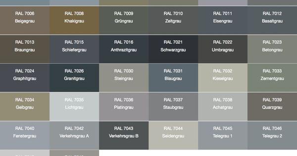 Ral farben fensterrahmen 7048 fassaden pinterest fensterrahmen farben und fassaden - Farbtabelle fassadenfarbe ...
