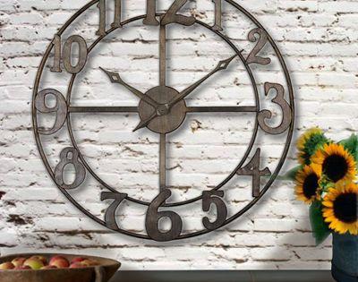 Rustic Oversized Wall Clocks Oversized Rustic Wall Clock