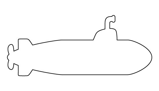 Submarine Pattern. Use The Printable Outline For Crafts