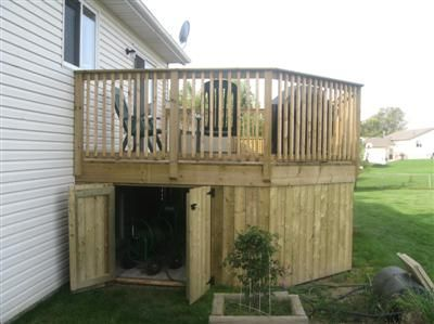 Under deck storage shed exterieur terrain et maison Deck storage ideas