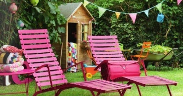 Mobilier de jardin design fermob chaises longues sur for Chaise longue de jardin design