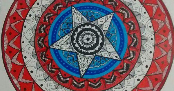 Mandala Escudo Capitan America Dibujos Pinterest