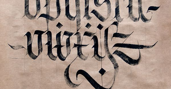 Fraktur Minuscules Graphics Calligraphy And Love Art