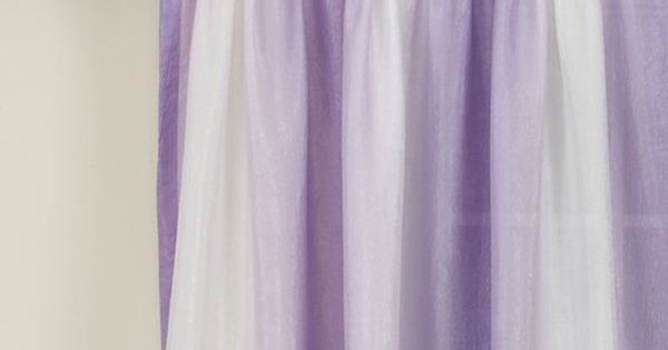 Your Zone Crushed Ombre Curtain Panel Iris Long