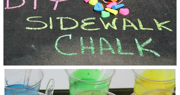 DIY Scented Sidewalk Chalk - Super easy to make and draws better