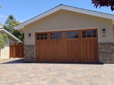 Custom Stain Grade Garage Doors Selections Madden Door Martinez Ca Antioch Concord Walnut Creek San Francisco Bay Garage Doors Garage Cedar Garage Door
