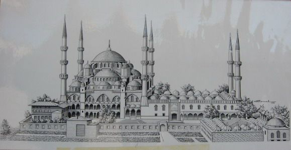 Karakalem Calismalari Manzara Basit Cizim Camiler Manzara