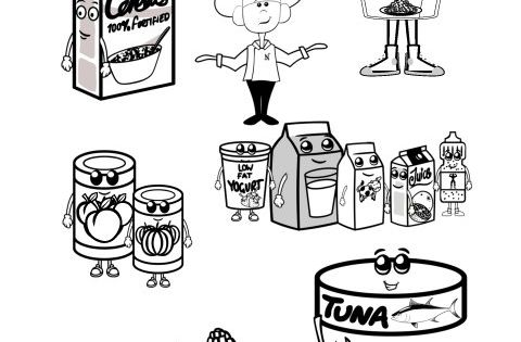 coloring pages of food labels - photo#7