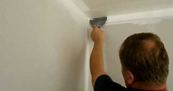Finishing Inside Corners With A 6 Drywall Knife Drywall