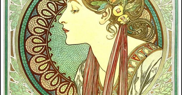 alfons maria mucha mucha art nouveau pinterest design affiche et byzantin. Black Bedroom Furniture Sets. Home Design Ideas