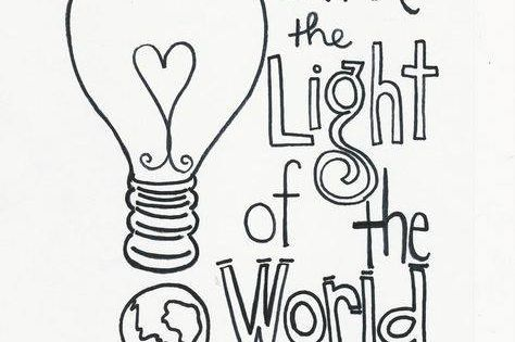 jesus is the light coloring page - jesus is the light of the world amen