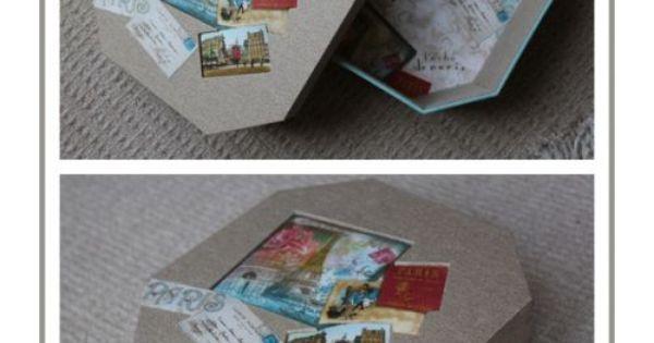 Paris boite octogonale cartonnage pinterest boite for Boite a couture remplie