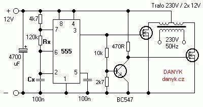 12v 230v 50hz Square Wave Inverter With 555 Diy Dc Ac