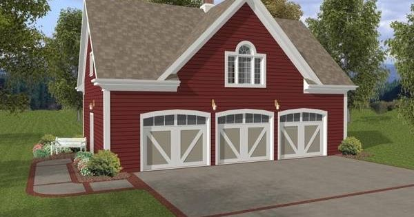 The hudson carriage house is a 3 car garage with a 750 sq for Carriage house plans with loft
