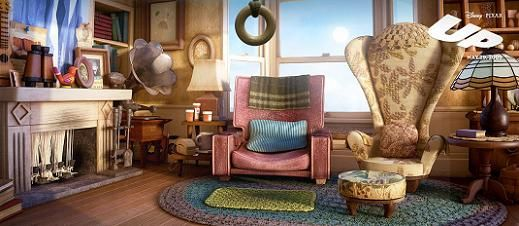 The Art Of Up Animated Views Cool Chairs Character Chairs Stylish Chairs
