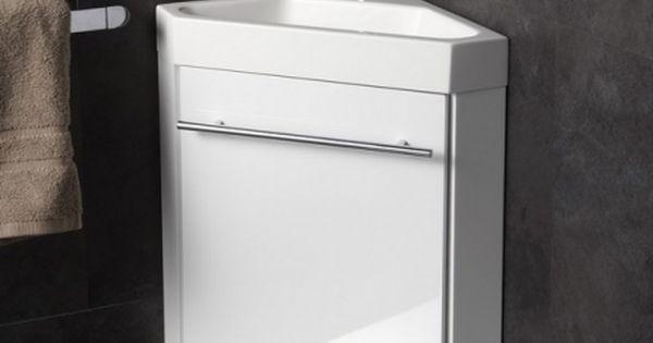 Lave Mains D 39 Angle Complet Pour Wc Avec Meuble Design Blanc Angles Et Design