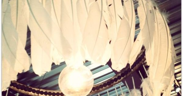 Feather chandelier DIY Chandeliers Ideas