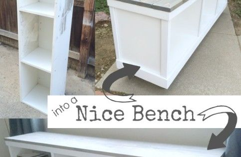 Cheap Cabinet Repurposed Into A Bench Diy Decorating Pinterest Pandora Cabinets And Entryway