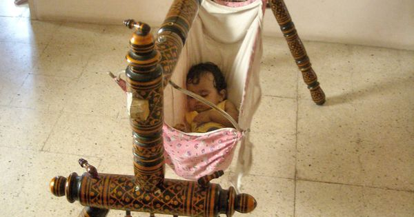 Indian Style Old Wooden Baby Swing Indian Cradle Julla