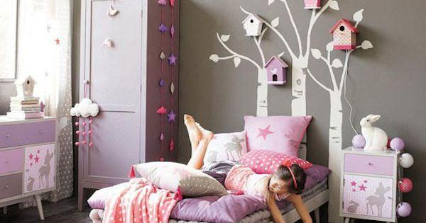 10 habitaciones infantiles en rosa gris habitaci n - Habitacion infantil rosa ...