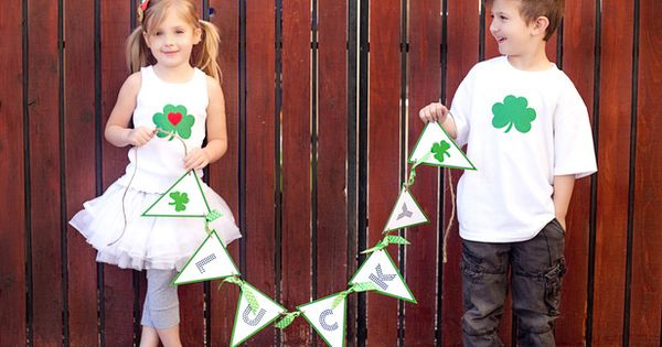 Lucky Banner - 9 Easy Handmade Ideas for St. Patrick's Day on