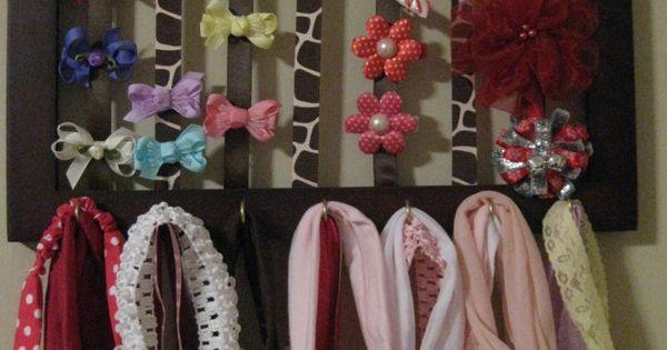 Bow and headband holder ~ Porta laço e faixa de cabelo by