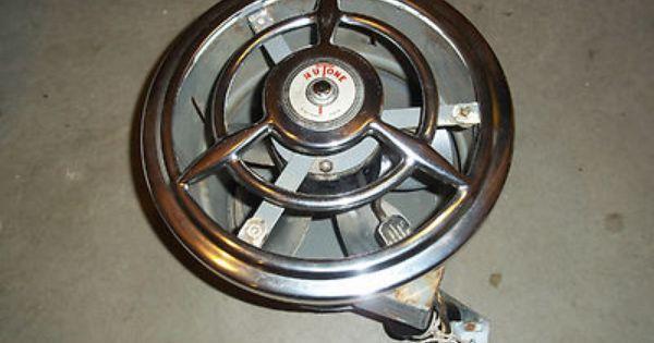 Vintage retro nutone kitchen bath exhaust fan w chrome for Remote kitchen exhaust fan