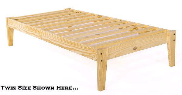 Platform Twin Bed Frame Twin Xl Pine Wood Platform Bed Frame