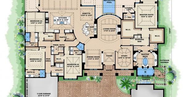British West Indies Floor Plan Home Floorplans 1 Story