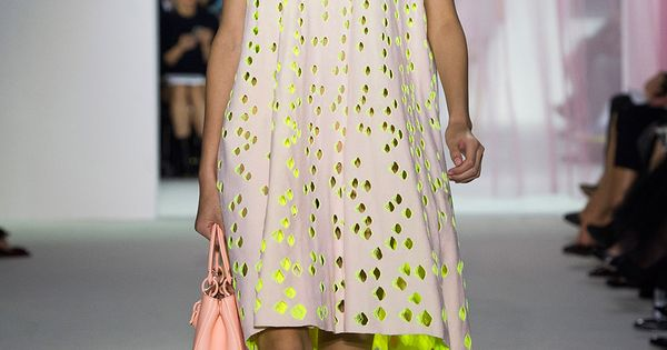 Christian Dior S2013 RTW (stunning lit from within perforations)