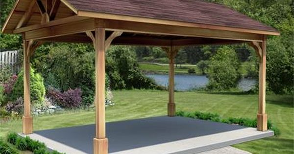 12 X 16 Cedar Gable Ramada Backyard Pavilion Gazebo Gazebo Plans