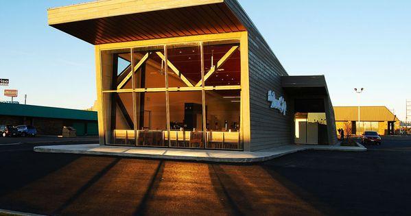 Nice donut stop a restaurant exterior design photo for Exterior restaurant design ideas