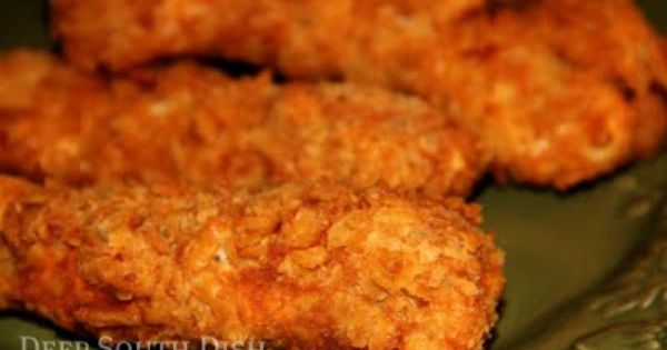 "Deep South Dish: Crunchy Saltine Chicken Tenders..""Boneless, skinless chicken breasts, cut into"