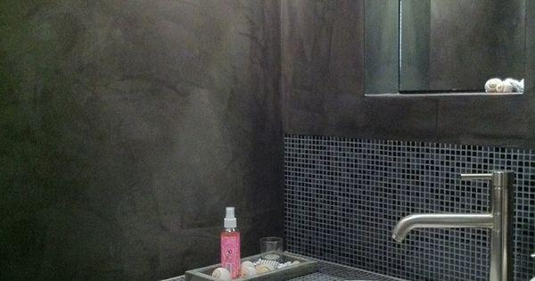 Stuc deco stoopen mee s kalkverf pinterest deco - Deco toilet ontwerp ...