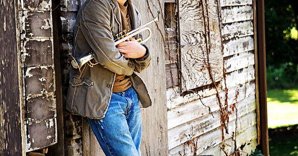 senior Portrait with Trumpets | Greenville SC & Washington PA value photography